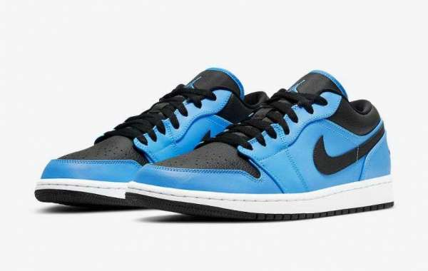 2020 Air Jordan 1 Low University Blue Black Will Arrive Very Soon