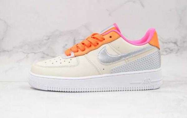 Best Deal Online Sale Nike Air Force 1 3M Khaki Orange Sneakers