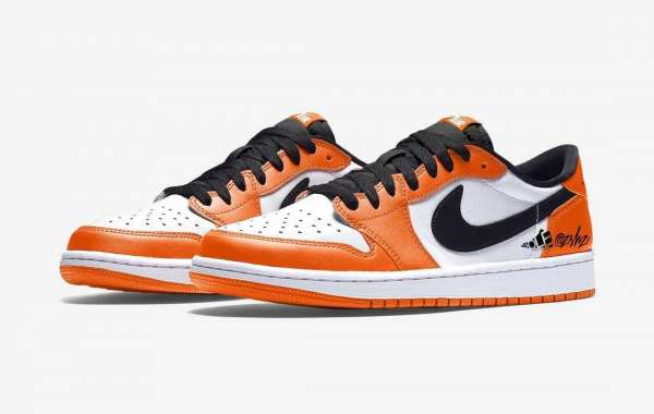 "2021 Nike Air Jordan 1 Low OG ""Shattered Backboard"" Orange/White-Black CZ0790-801"