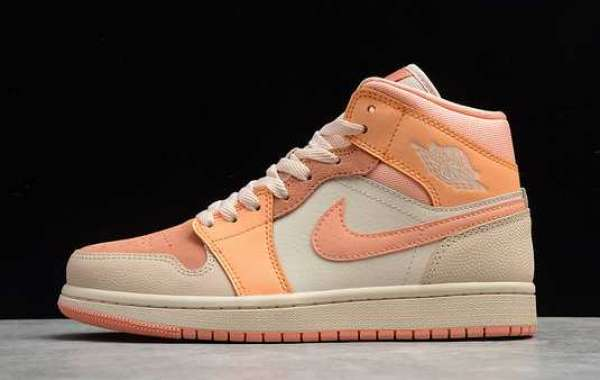 Hot Air Jordan 1 Mid Apricot Orange Cheap Sale DH4270-800
