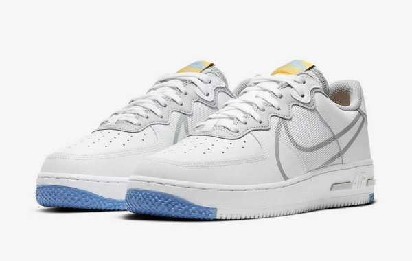 Hot Sale Nike Air Force 1 React Light Smoke Grey CT1020-100