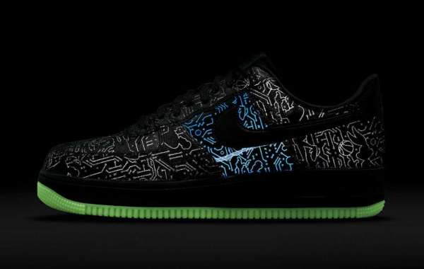 """2021 New Space Jam x Nike Air Force 1 Low """"Computer Chip"""" DH5354-001"""